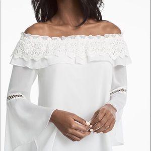 White House Black Market off-the-shoulder blouse